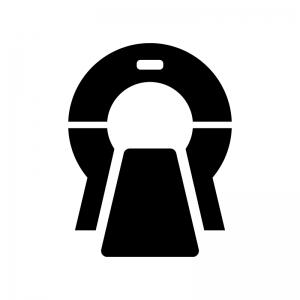 MRIの白黒シルエットイラスト02