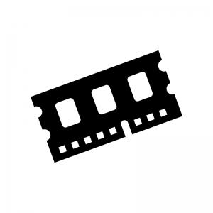 メモリ・RAMの白黒シルエットイラスト