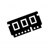 メモリ・RAMの白黒シルエットイラスト02