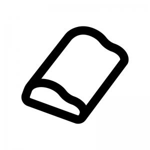 枕の白黒シルエットイラスト03