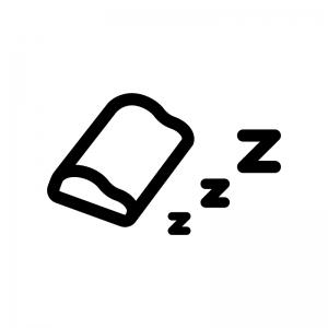 枕の白黒シルエットイラスト04