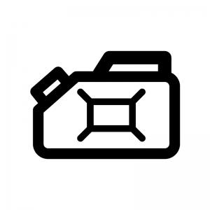 ポリタンクの白黒シルエットイラスト04