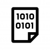 プログラム・バイナリデータの白黒シルエットイラスト