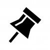 画鋲・押しピンの白黒シルエットイラスト03