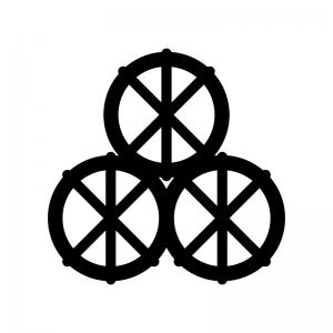 米俵の白黒シルエットイラスト02