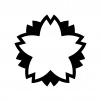 桜の白黒シルエットイラスト05