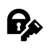 セキュリティ・鍵の白黒シルエットイラスト02