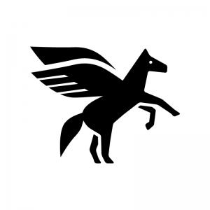 ペガサスのシルエット 無料のaipng白黒シルエットイラスト