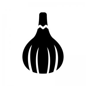 イチジクの白黒シルエットイラスト