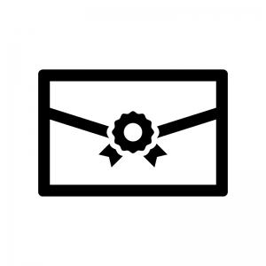 招待状の白黒シルエットイラスト