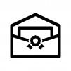 招待状の白黒シルエットイラスト02
