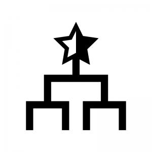 トーナメント表の白黒シルエットイラスト