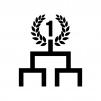 トーナメント表の白黒シルエットイラスト02