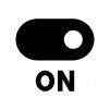 スイッチONの白黒シルエットイラスト03