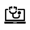 パソコン・システム診断の白黒シルエットイラスト02