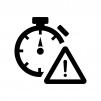時間制限の白黒シルエットイラスト