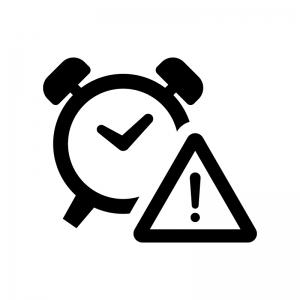 時間制限の白黒シルエットイラスト02