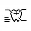 歯の検診の白黒シルエットイラスト
