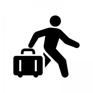 旅行・お出かけの白黒シルエットイラスト