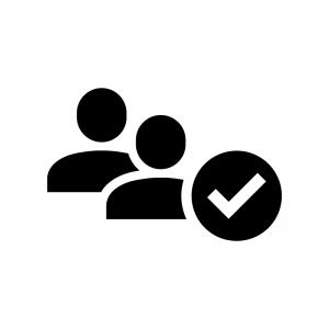 ユーザー認証の白黒シルエットイラスト02