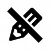 書き込み禁止の白黒シルエットイラスト02