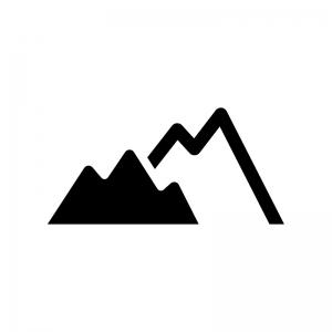 山の白黒シルエットイラスト03