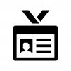 社員証・身分証の白黒シルエットイラスト03
