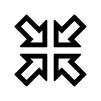縮小の白黒シルエットイラスト02