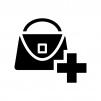 バッグのメンテナンス・修理の白黒シルエットイラスト