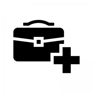 バッグのメンテナンス・修理の白黒シルエットイラスト02