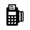 クレジットカード決済の白黒シルエットイラスト02