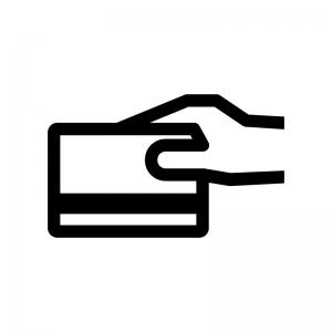 クレジットカード決済の白黒シルエットイラスト03