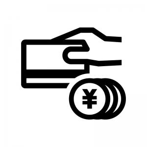 クレジットカード決済の白黒シルエットイラスト05