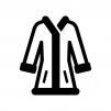 コート(上着)の白黒シルエットイラスト