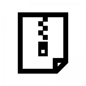 圧縮・ZIPファイルの白黒シルエットイラスト04