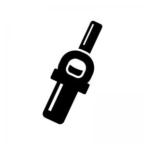 着火ライターの白黒シルエットイラスト03