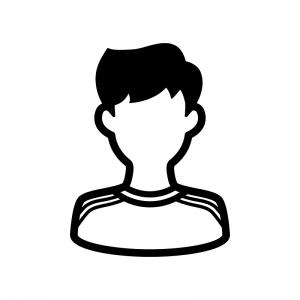 サッカー選手の白黒シルエットイラスト