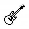 楽器・ベースの白黒シルエットイラスト02