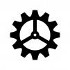 歯車・設定の白黒シルエットイラスト04