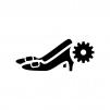 ハイヒールのメンテナンス・修理の白黒シルエットイラスト02