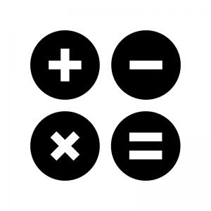 計算の白黒シルエットイラスト03