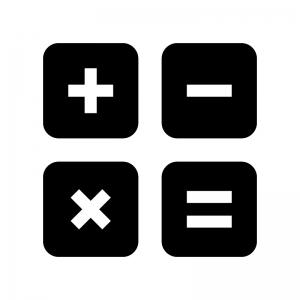 計算の白黒シルエットイラスト04