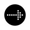 ドットの矢印の白黒シルエットイラスト03