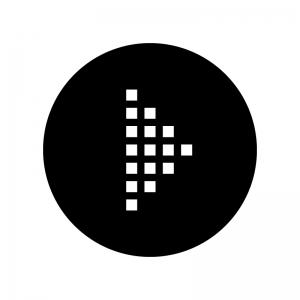 ドットの矢印の白黒シルエットイラスト06