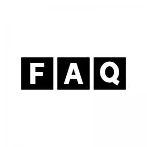 FAQの白黒シルエットイラスト