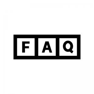 FAQの白黒シルエットイラスト02