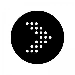 丸ドットの矢印の白黒シルエットイラスト05