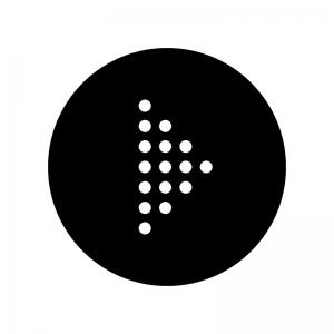 丸ドットの矢印の白黒シルエットイラスト06