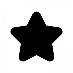 星の白黒シルエットイラスト03