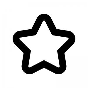 星の白黒シルエットイラスト04